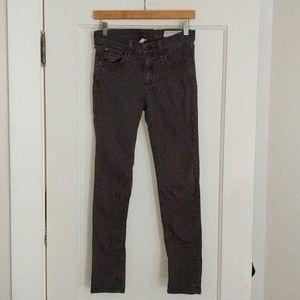 Rag & Bone Distressed Charcoal Skinny Jeans, sz 27
